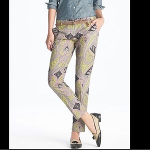 J. Crew Cafe Capri sovereign paisley pants